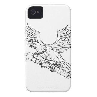 Adler-erfassendes Hammer-Zeichnen iPhone 4 Cover