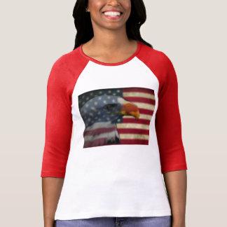 Adler-Shirt mit amerikanischer Flagge T-Shirt