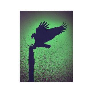Adler-Silhouette Holzposter