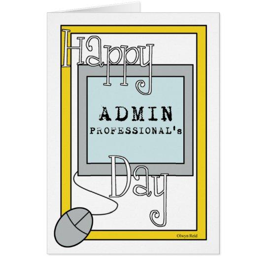 Admin-Fachleute-Tag mit Computer Grußkarte