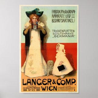 Adolf Karpellus, Fotograf, 1898 Vintag Poster