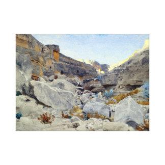Adolf von Meckel Landscape in Sinai Leinwanddruck
