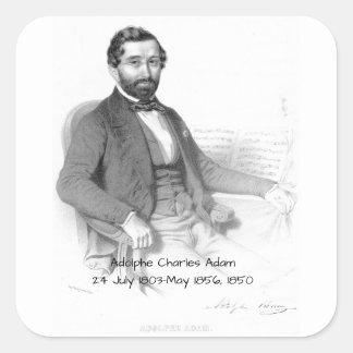 Adolphe Charles Adam, 1850 Quadratischer Aufkleber