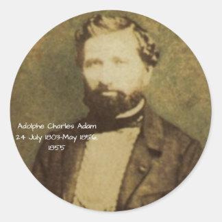 Adolphe Charles Adam, 1855 Runder Aufkleber