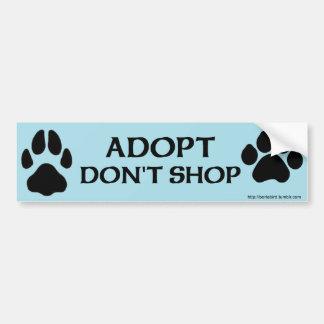 Adopt kaufen nicht mit Hunde- und Autoaufkleber