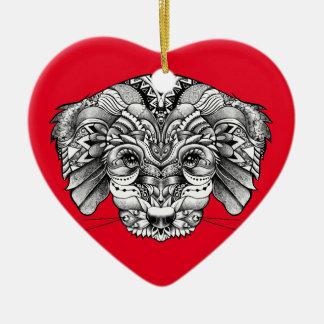 Adoptieren Sie einen Welpen Keramik Herz-Ornament