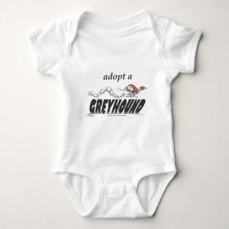 Adoptieren Sie einen Windhund! Baby Strampler