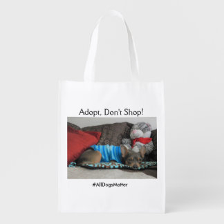 """""""Adoptieren Sie, kaufen Sie nicht"""" Taschentasche Wiederverwendbare Einkaufstasche"""