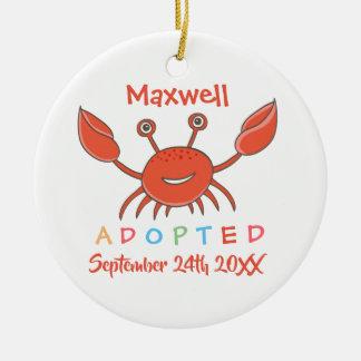 Adoptiert von der Pflegesorgfalt-Krabbe - Keramik Ornament