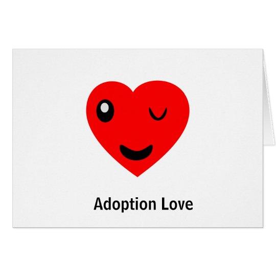 Adoptions-Liebe Wink Karte