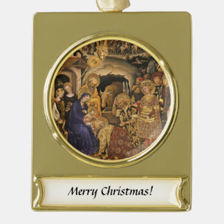 Adorazione Dei Weisen Banner-Ornament Gold