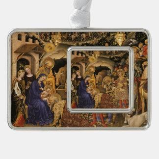 Adorazione Dei Weisen Rahmen-Ornament Silber
