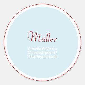 Adressaufkleber für die Hochzeitspapeterie Stickers