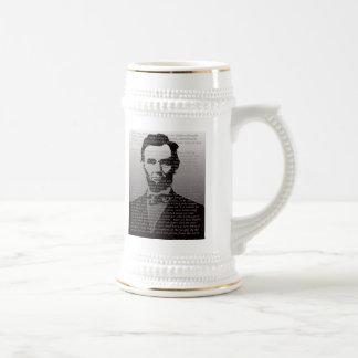 Adresse Abraham Lincolns Gettysburg Bierglas