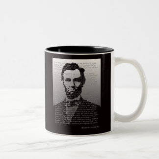 Adresse Abraham Lincolns Gettysburg Zweifarbige Tasse