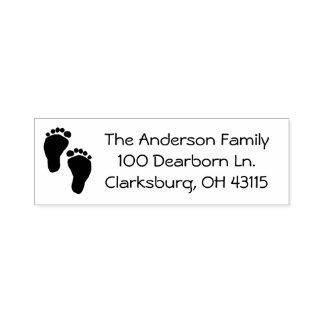 Adresse de pieds de bébé tampon auto-encreur