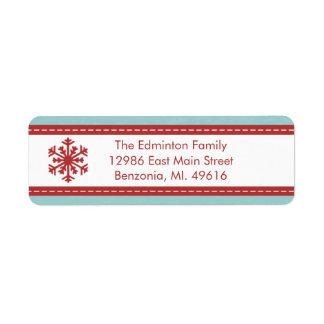 Adressen-Etikett moderne blaue frohe wenig