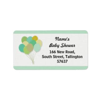 Adressen-Etiketten BALLONE Babyparty-Geschlecht Adressaufkleber