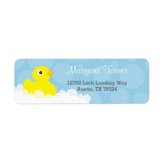 Adressen-Etiketten - Ducky Gummientwurf - Blau