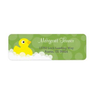 Adressen-Etiketten - Ducky Gummientwurf - Grün