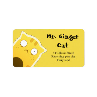 Adressen-Etiketten Herrn Ginger Cat Adressaufkleber