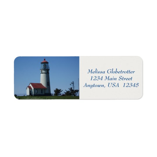 Adressen-Etiketten--Leuchtturm