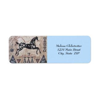 Adressen-Etiketten--Ureinwohner-Kunst Rücksendeetiketten