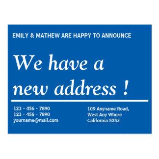 Adressenänderung der Adressen-Änderungs-    neue Postkarte