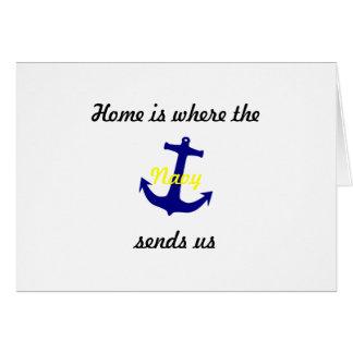 """Adressenänderung kardiert """"Marine """" Karte"""
