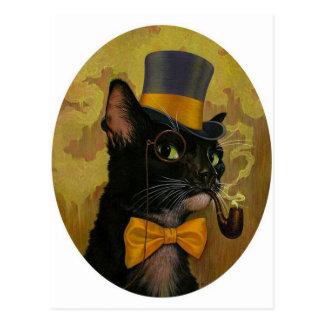 Adrette Katze Postkarte