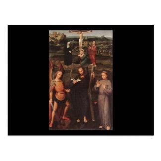 Adriaen Isenbrandt Erzengel St Michael St Andrew Postkarte