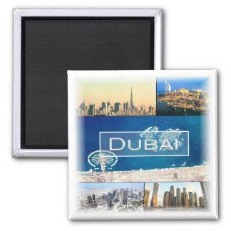 AE * Arabische Emirate - Dubai Uae Quadratischer Magnet