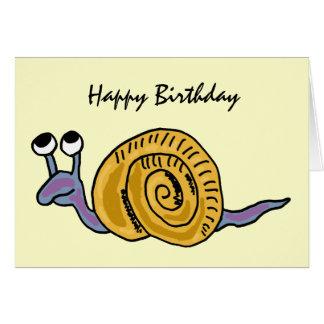AE, lustige Schnecke-Geburtstags-Karte Karte