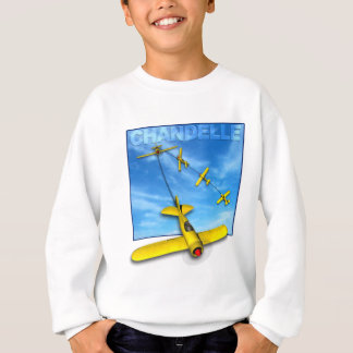 Aerobatic Manöver des Chandelle mit Flugzeug Sweatshirt