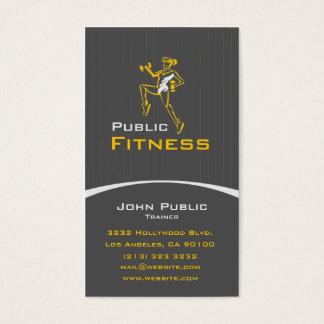 Aerobe Fitness-persönlicher Trainer Visitenkarten