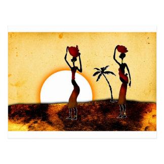 af050 Afrika retro Vintage Artgeschenke Postkarte