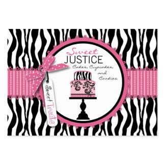 Affaires chics Card_SJ de boutique Carte De Visite Grand Format