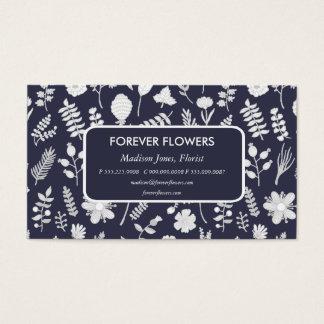 Affaires florales de professionnel de fleuriste de cartes de visite