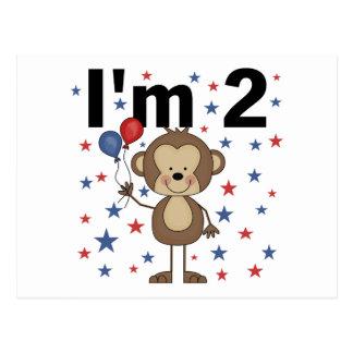 Affe bin ich 2 T-Shirts und Geschenke Postkarte