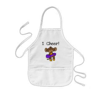 Affe-Cheerleader-Gold und Lila Kinderschürze