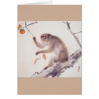 Affe durch Hashimoto Kansetsu - Jahr des Affen Karte