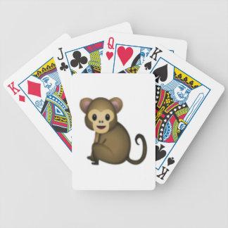 Affe - Emoji Bicycle Spielkarten
