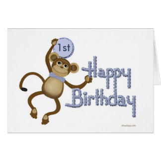 Affe-Geburtstags-Alters-Schablonen-Karte Grußkarte