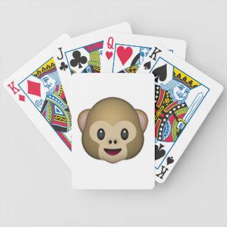 Affe-Gesicht - Emoji Bicycle Spielkarten