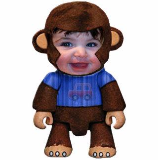 Affe-Gesicht - Junge Freistehende Fotoskulptur