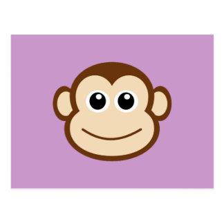 Affe-Gesichts-Cartoon Postkarte