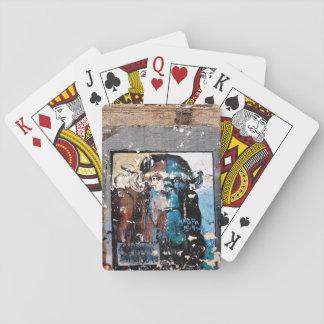 Affe-Gesichts-Graffiti klassische Spielkarten