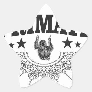 Affe in der Aufkleberkunst Stern-Aufkleber