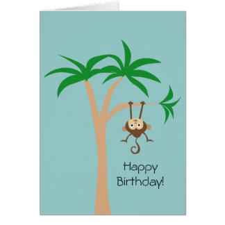 Affe in einem Baum Grußkarte