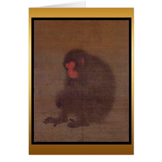 Affe-Jahr-Malerei-Gruß-Karte Grußkarte